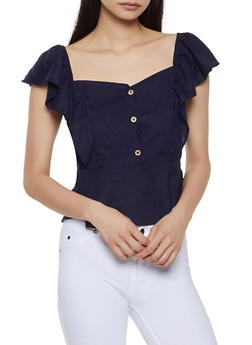 Off the Shoulder Ruffle Top - 1001058750588