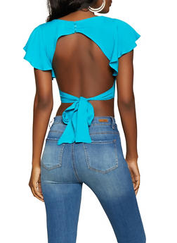 Open Back Crop Top - 1001058751664