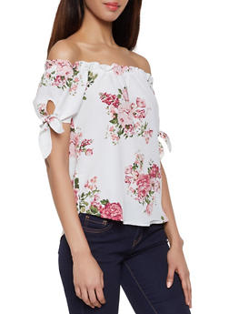 Floral Off the Shoulder Top - 1001058752242