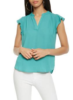 Flutter Sleeve Blouse - 1001074292118