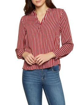 Striped Long Sleeve Shirt - 1001074292883