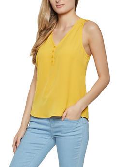 Crepe Knit Sleeveless Top - 1002054262481