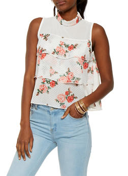 Printed Tiered Top - 1002074290462