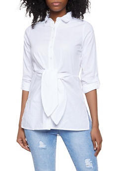 White Cotton Long Sleeve Shirt