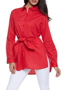 Womens Red Tunics