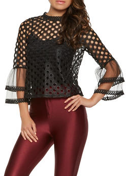 Perforated Back Zip Top - 1004074292121