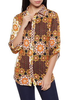 Printed Soft Knit Shirt - 1005074290452