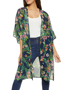 Tropical Floral Duster - 1008054260982