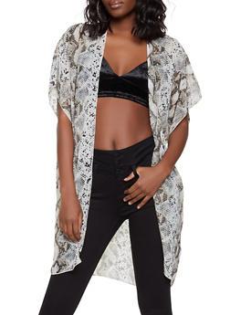 Snake Print Kimono - 1008058751832
