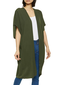 Crepe Knit Duster - 1008058753041