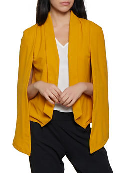 Collared Cape Blazer - 1008062413798