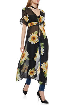 Sunflower Cinched Waist Maxi Top - 1008074290120