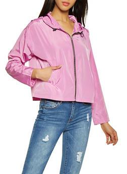 Hooded Zip Front Windbreaker Jacket | 1008074292899 - 1008074292899