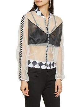 Do Not Disturb Mesh Track Jacket - 1008074297120