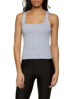 Square Neck Tank Top - 1010054262127