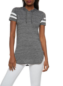 Hooded Tunic Top - 1012033878631