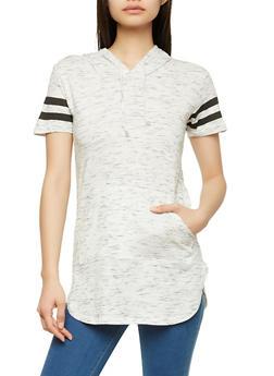 Varsity Stripe Hooded Tunic - 1012033878951