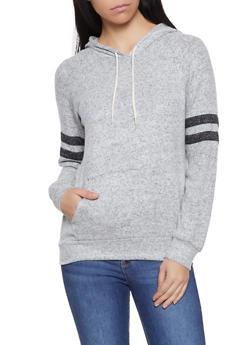 Knit Varsity Stripe Sweatshirt - 1012054260633