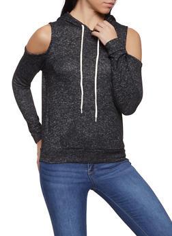 Brushed Knit Cold Shoulder Sweater - 1012054260667