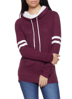 Sherpa Lined Cowl Neck Sweatshirt - 1012054260686