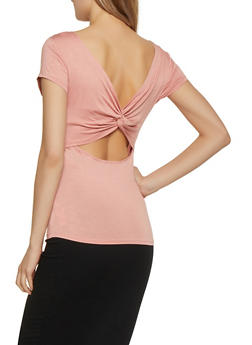Twist Open Back Tee - 1012054260713