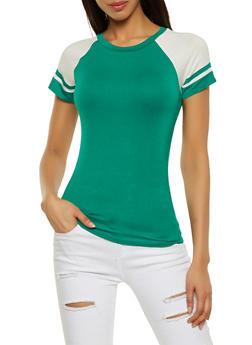 Color Block Baseball Tee - 1012054260923