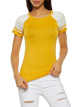 Color Block Baseball Tee - 1012054260923
