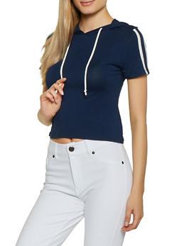 Varsity Stripe Hooded Top | 1012054260989 - 1012054260989