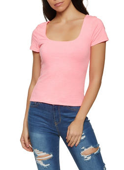 Basic Square Neck Tee - 1012054261928