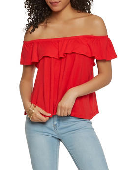 Basic Off the Shoulder Top - 1012054265878