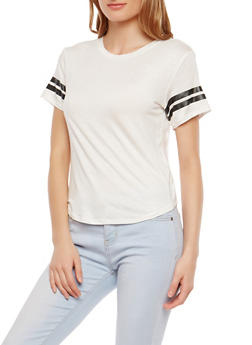 Athletic Stripe T Shirt - 1012054265880