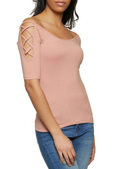 Caged Shoulder Top - 1012054265882