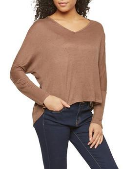Lace Back Speckled Basic Top - 1012054267945