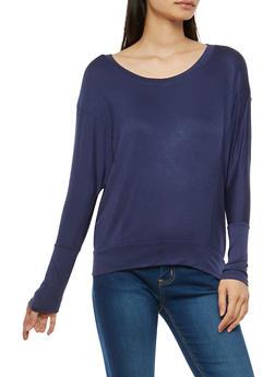 Basic Long Dolman Sleeve Top - 1012054267963