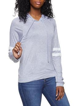 Varsity Stripe Hooded Tee - 1012054269778