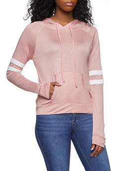 Varsity Stripe Hooded Tee - 1012054269778