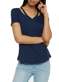 Solid Cut Out Tee - 1012054269891