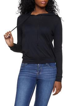 Hooded Long Sleeve Top - 1012054269952