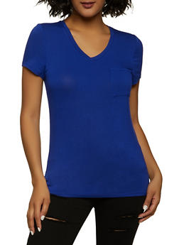 One Pocket V Neck Tee - 1012058751001