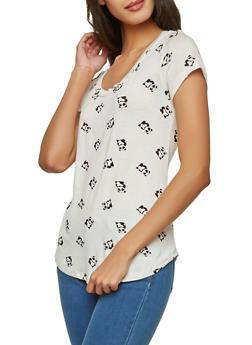 Panda Print T Shirt - 1012058751061