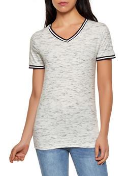Womens Striped Short Sleeve Tee Shirts