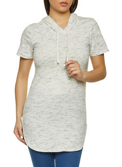 Hooded Short Sleeve Top - 1013033878731