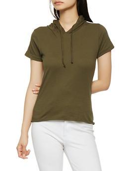 Hooded Varsity Stripe Tee - 1013033878770