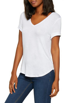 Fixed Cuff Solid Tee - 1013058750718