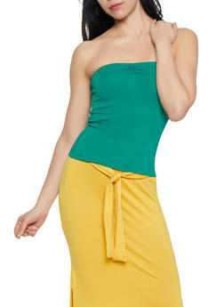 Shirred Tube Top - 1014054261015
