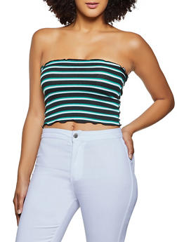 Striped Tube Top - 1014054261068