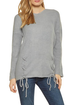 Faux Fur Trim Hooded Sweater - 1020034281373
