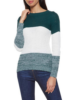 Color Block Sweater - 1020038346105