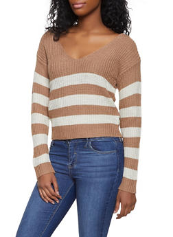 O Ring Caged Back Sweater - 1020038348270