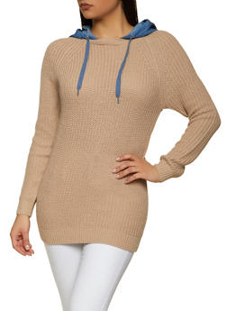 Long Sleeve Hooded Sweater - 1020051060423